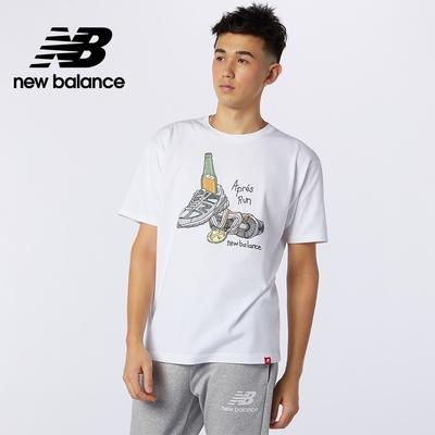 【New Balance】插畫短袖上衣_男性_白色_AMT11544WT