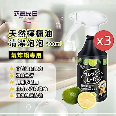 衣麗亮白氣炸鍋專用天然檸檬油清潔泡泡500mlx3