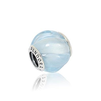 Pandora 潘朵拉 藍色水晶漣漪 純銀墜飾 串珠