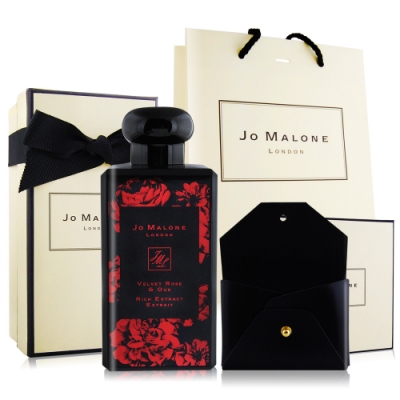 Jo Malone 絲絨玫瑰與烏木醇粹古龍水100ml-加贈限量燙金皮革名片夾附提袋