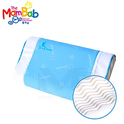 《夢貝比》 銀離子抗菌波浪型乳膠枕-雙色【支撐度佳又舒適】