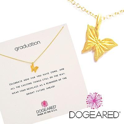 Dogeared 優雅蝴蝶 graceful butterfly 珍惜所有 金色許願項鍊