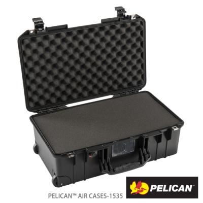 美國 PELICAN 1535 Air 輪座拉桿超輕氣密箱-含泡棉(黑)