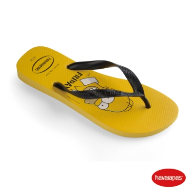 Havaianas 哈瓦仕 拖鞋 夾腳拖 人字拖 辛普森家族 巴西 男女鞋 金黃 4137889-0776U Simpsons