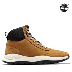 Timberland 男款小麥黃磨砂革系鞋帶休閒靴|
