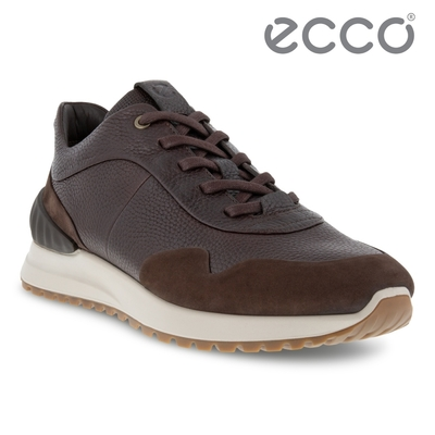 ECCO ASTIR 雅躍拼接皮革運動休閒鞋 男鞋 摩卡棕