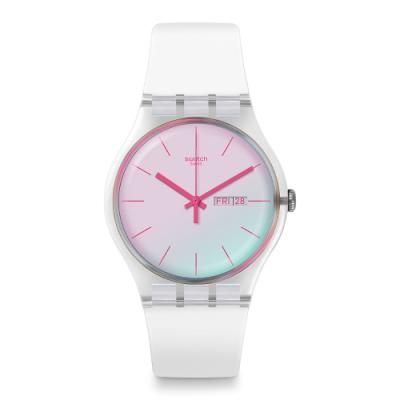Swatch Transformation系列手錶 POLAWHITE一支獨秀-雪白