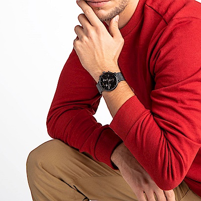 CALVIN KLEIN highnoon 巔峰系列手錶-鍍黑/43mm