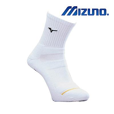 MIZUNO 男運動厚底襪(加大尺寸) 5入 白X黑 32TX900409