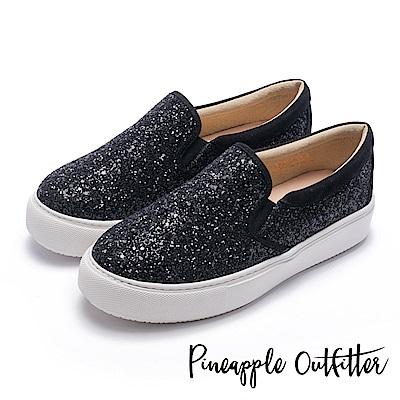Pineapple Outfitter 璀璨時尚 亮片休閒懶人鞋-黑色