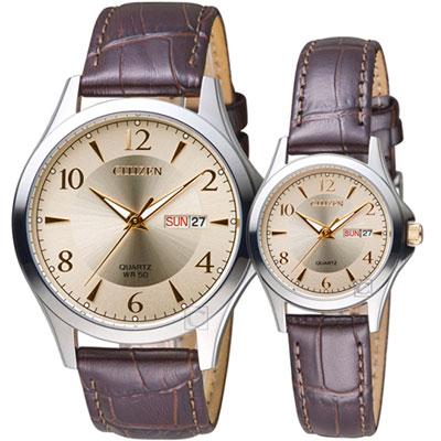 CITIZEN 星辰 經典時尚對錶(BF2009-29X-EQ0599-20X)