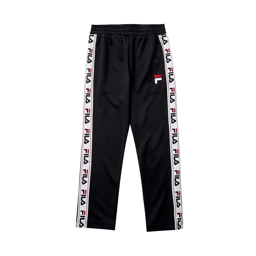 FILA KIDS 童針織平口長褲-黑 1PNT-8436-BK