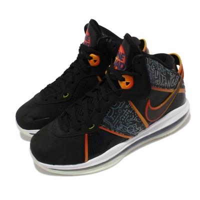 Nike 籃球鞋 Lebron VIII QS 運動 男鞋 Space Jam 鞋底夜光 氣墊 避震 黑 DB1732-001