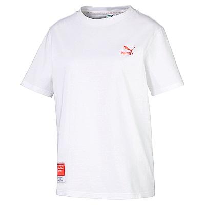 PUMA-女性流行系列Pantone短袖T恤-白色-歐規