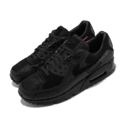 Nike 休閒鞋 Air Max 90 QS 復古 男鞋 經典鞋款 氣墊 球鞋穿搭異 材質拼接 黑 紅 CZ5588002