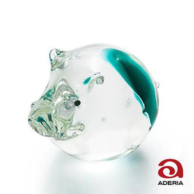 日本Aderia 手作玻璃幸運生肖擺飾-亥(豬)
