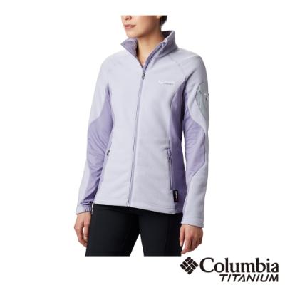 Columbia 哥倫比亞 女款- 鈦 Polartec 200 刷毛外套-紫色