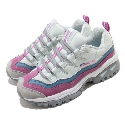 Skechers 休閒鞋 Energy-Oh So Pretty 女鞋 老爹鞋 增高 修飾 避震 緩衝 穿搭 白 紫 149228BLPR