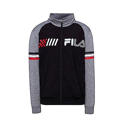 FILA 男款吸濕排汗外套-黑色 1JKT-1478-BK