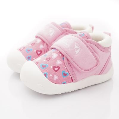 雨傘牌 超輕量桃心學步鞋款 EI93204粉(寶寶段)