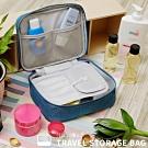 NaSaDen 盥洗袋→沐浴用品/美妝專用收納袋(孔雀藍)