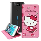 三麗鷗授權 Hello Kitty 華碩 ZenFone 6 櫻花吊繩款彩繪側掀皮套