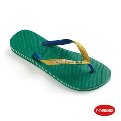 Havaianas哈瓦仕 拖鞋 夾腳拖 人字拖 巴西 男鞋 女鞋 叢林綠 4123206-2078U Brasil Mix 雙色 國旗