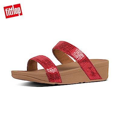 FitFlop CHAIN PRINT雙帶涼鞋紅色
