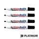 PLATINUM 白金 白板筆-黑色(4入) product thumbnail 1