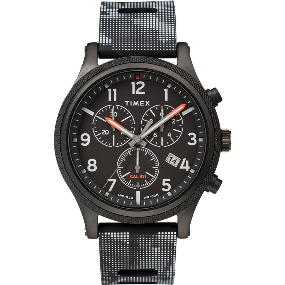 TIMEX 天美時 復刻系列 三眼計時復古手錶-黑/42mm