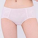 思薇爾 牛奶紗系列M-XL素面中低腰平口內褲(柔粉色)