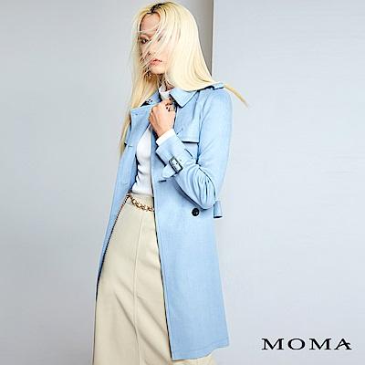 MOMA 雙排釦仿麂皮風衣外套