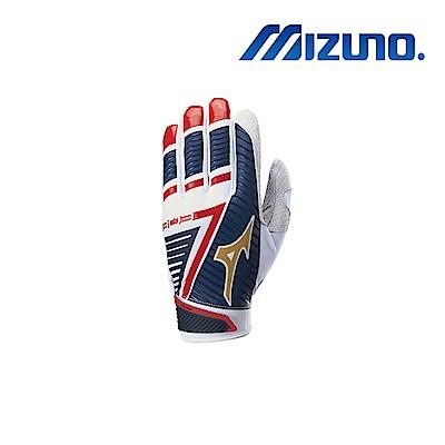 Mizuno B-303 打擊手套 深藍x紅x白 330396.0U0U