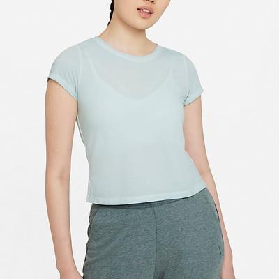 NIKE 上衣 短袖上衣 運動 慢跑 女款 藍 DA0800424 AS W NY DF GARMENT DYE S/S TOP