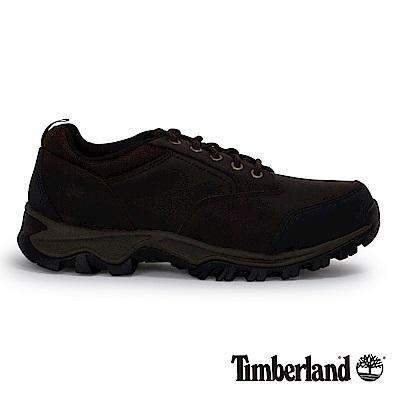 Timberland 男款深咖啡避震防滑低筒防水鞋