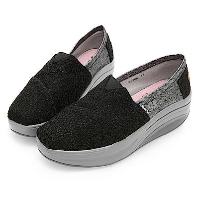 PLAYBOY 玩美拼接亮蔥輕量休閒鞋-黑-Y5308CC