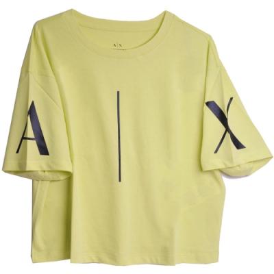 ARMANI EXCHANGE A|X大字母LOGO圖騰圓領短版T恤(螢光色系)