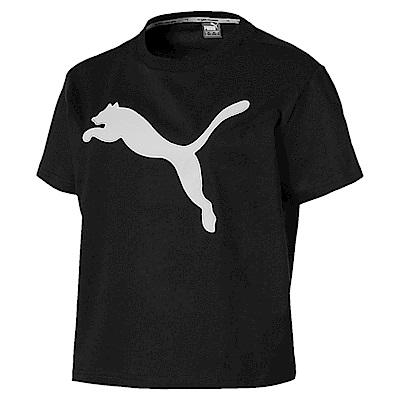 PUMA-女性基本系列Evostripe大跳豹短袖T恤-黑色-亞規
