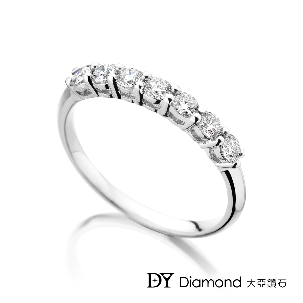DY Diamond 大亞鑽石 18K金 時尚經典鑽石線戒