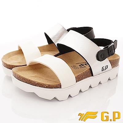 GP時尚涼拖  時尚涼鞋款-SE67-77銀白(女段)