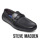 STEVE MADDEN-GARTER 真皮男士雅痞懶人鞋-灰色