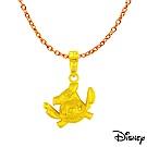 Disney迪士尼系列金飾 黃金墜子-俏皮史迪奇款 送項鍊