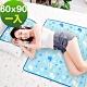 奶油獅-雪花樂園-長效型降6度涼感冰砂冰涼墊/嬰兒床墊/床墊60x90cm-藍色(一入) product thumbnail 1