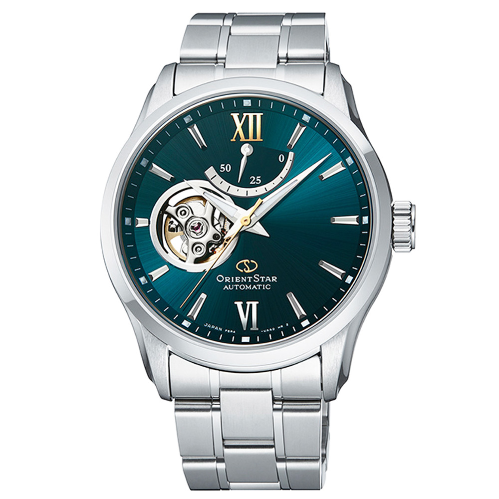 ORIENT STAR 東方之星機械錶手錶 RE-AT0002E-綠X銀/39mm