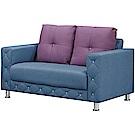 文創集 安雷登英倫風透氣皮革二人座沙發椅-141x93x77cm免組