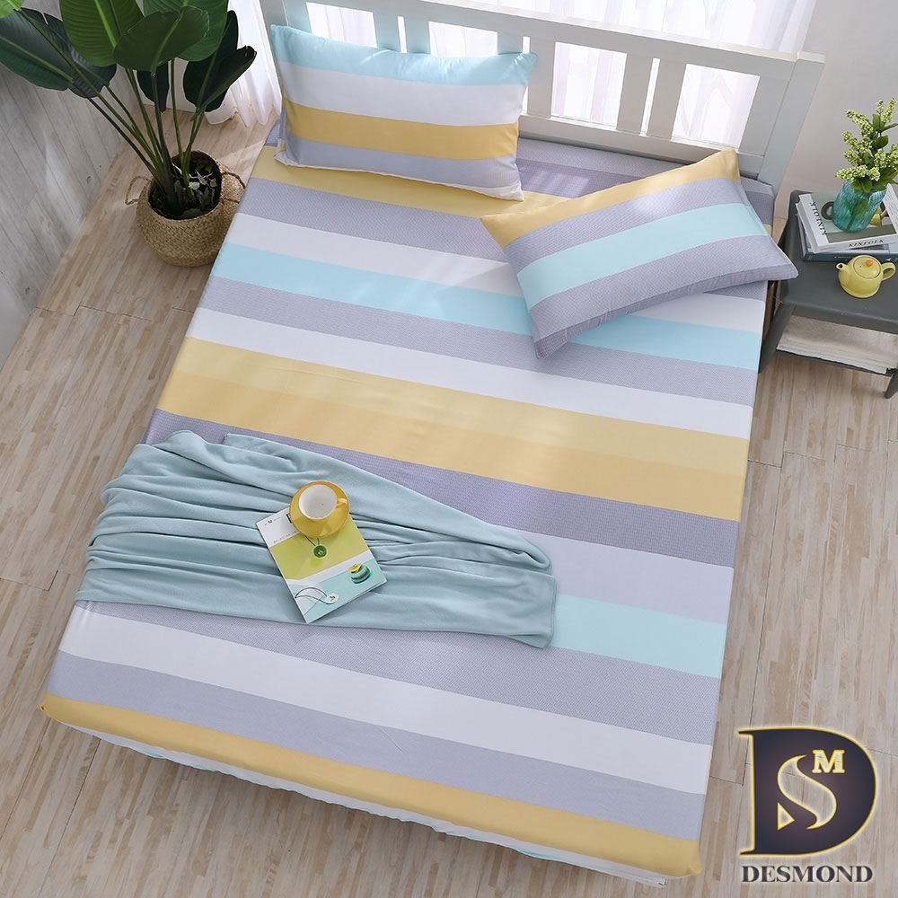 岱思夢 3M天絲床包枕套組 單/雙/大 尺寸均一價 (黃金海岸)