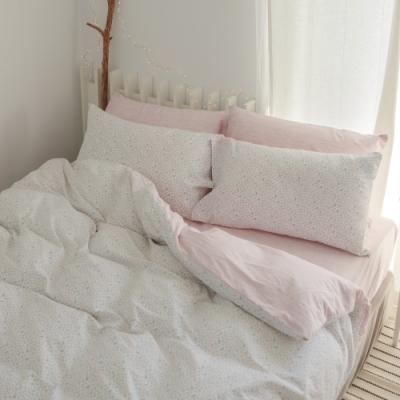 翔仔居家 台灣製 100%精梳棉薄被套&床包4件組-小實 (加大)
