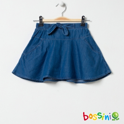 bossini女童-丹寧褲裙淡藍
