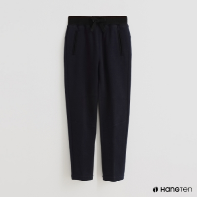 Hang Ten - 童裝 - 低調風腰部鬆緊純棉休閒長褲 - 藍