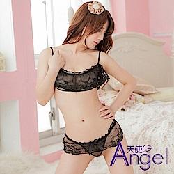 Angel 透視露乳三點式性感誘惑蕾絲 BP005